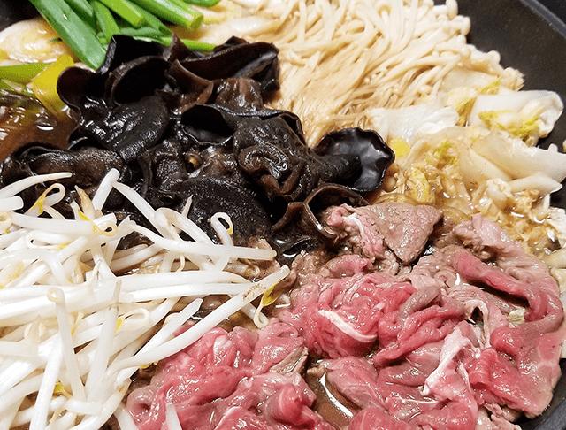 きくらげレシピ|バランス抜群!きくらげと野菜のすき焼き