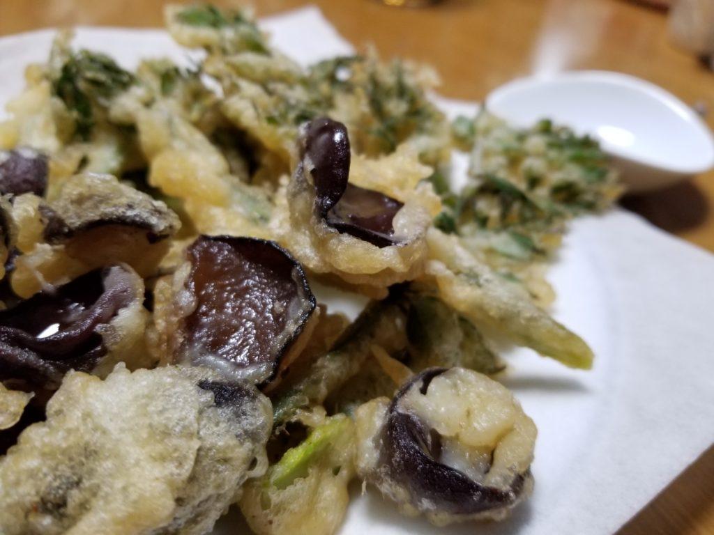 キクラゲの天ぷら